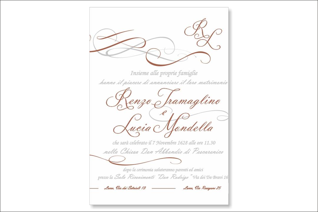 Partecipazione matrimonio su cartoncino 800 gr LetterPress8