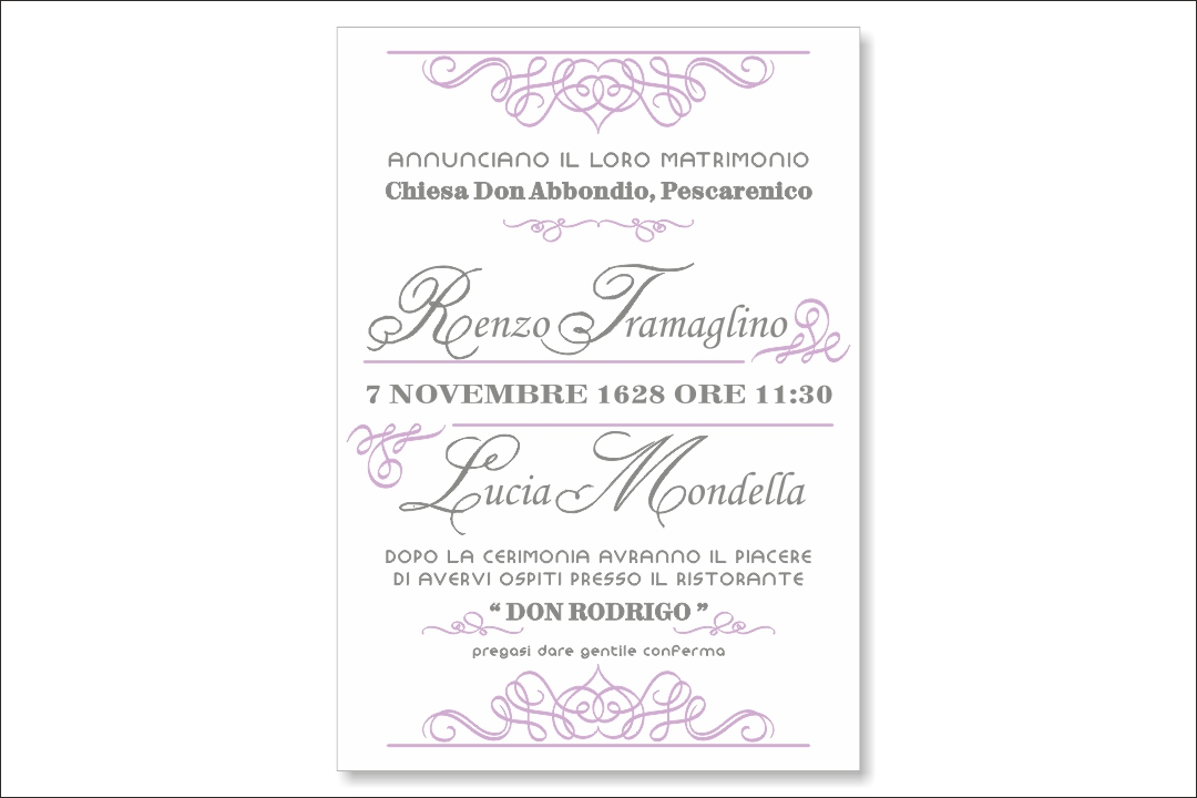 Partecipazione di nozze su cartoncino 800 gr LetterPress10