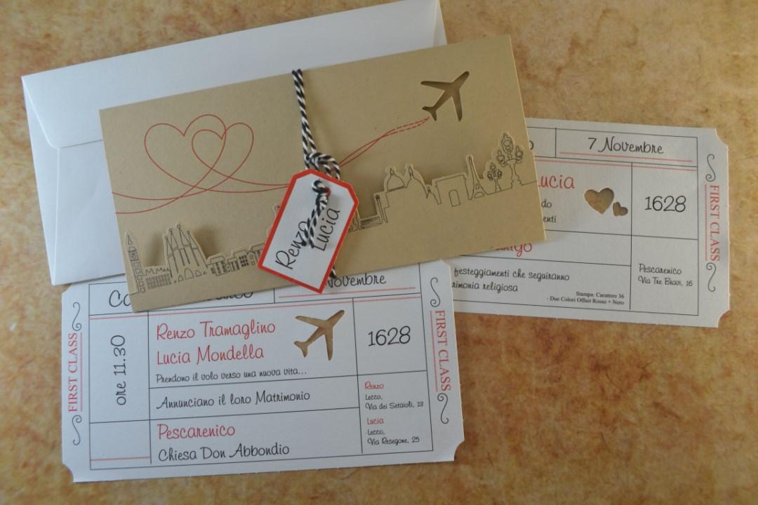 Matrimonio Inviti Partecipazioni.Partecipazione Matrimonio Biglietto Aereo Cod 96147 Inviti Design