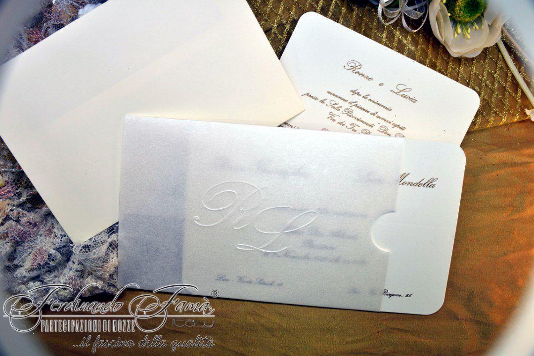Partecipazioni Matrimonio Pergamena.Partecipazione Matrimonio Cart Pergamena Bianca F1376