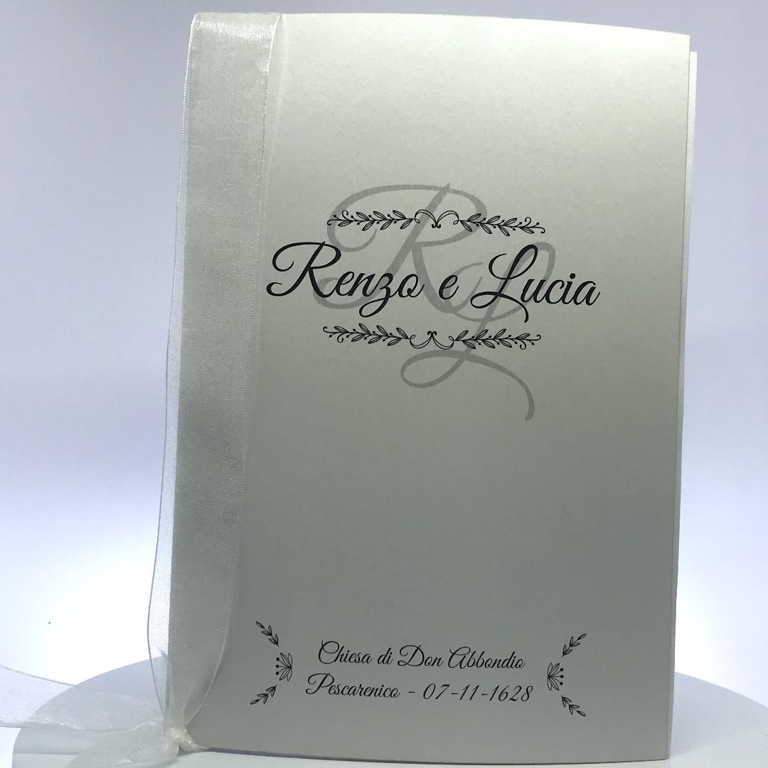 Libretto Messa per Matrimonio in Carta Perlata Bianca