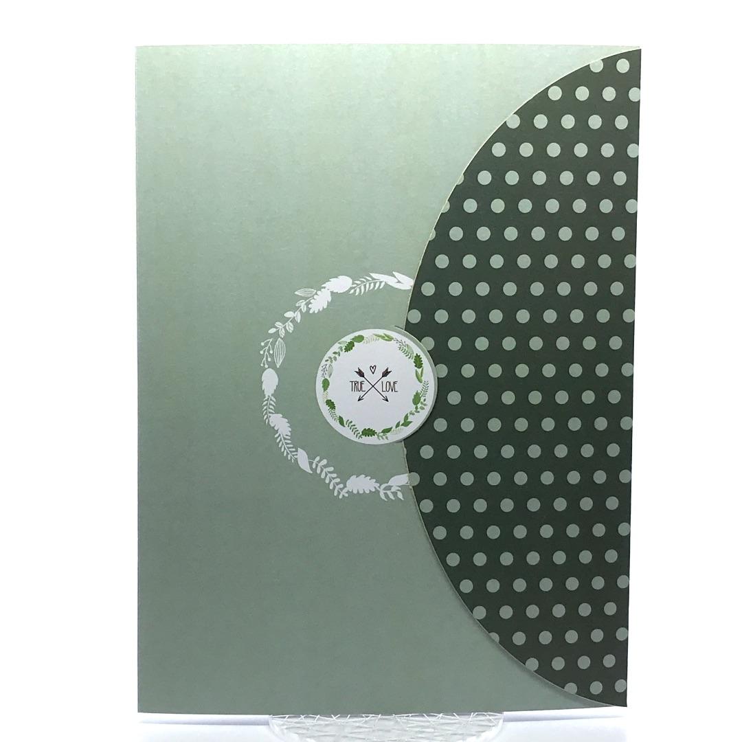 Porta foto sposi in cartoncino  Modello Half Moon Pois 2