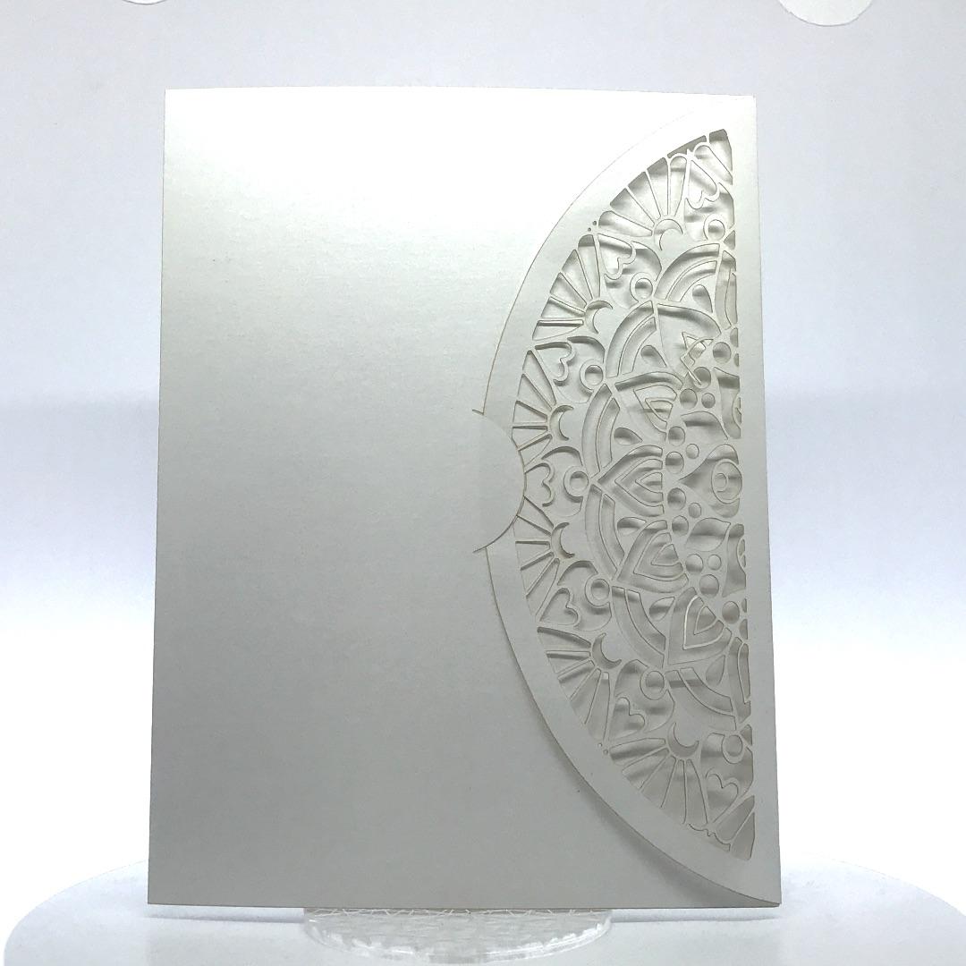 Porta foto sposi in cartoncino Modello Laser Pof-2-1
