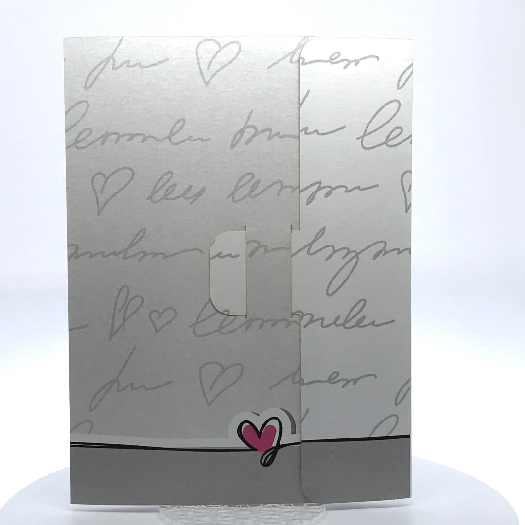 Porta foto sposi in cartoncino Modello Pochette LoveWords
