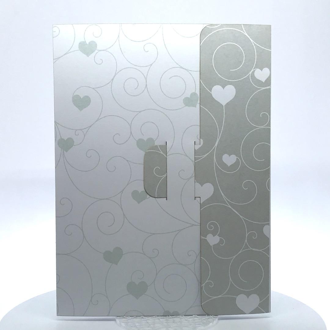 Porta foto sposi in cartoncino Modello Pochette Spin Love