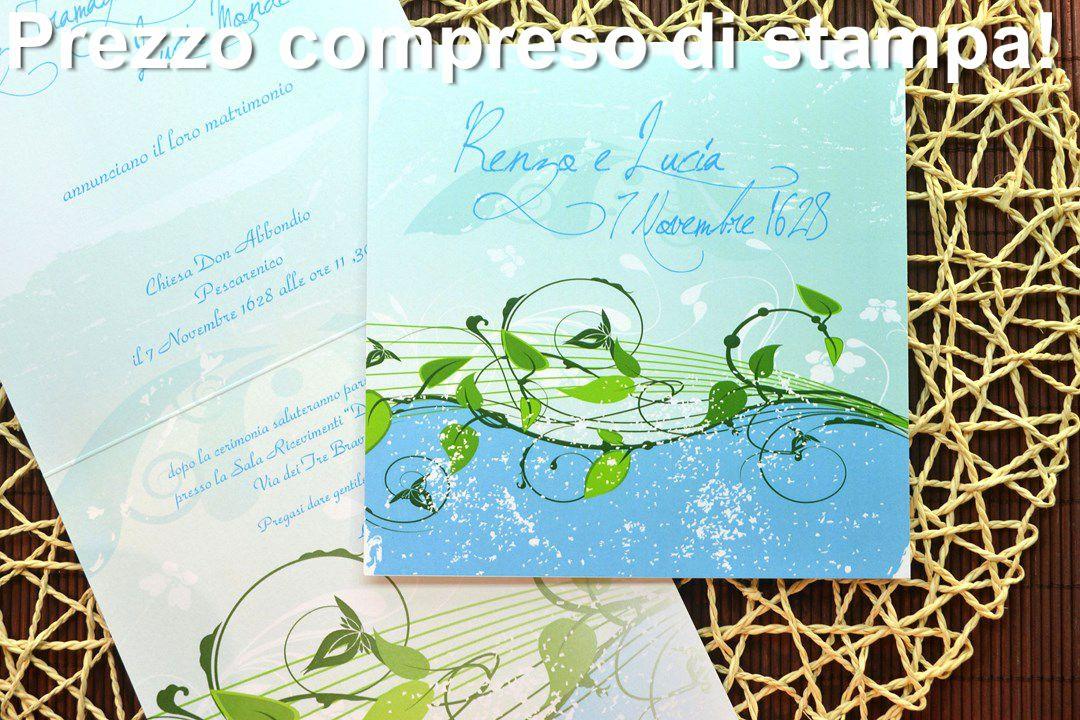 Partecipazione di matrimonio F1283