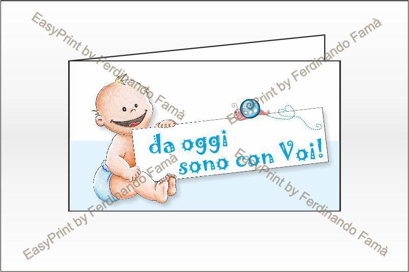 Biglietti per Bomboniere Bambino A4 – Cod. BFF2069