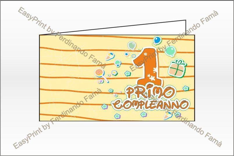 Bigliettini Primo Compleanno Bomboniera – Cod. BFF5021