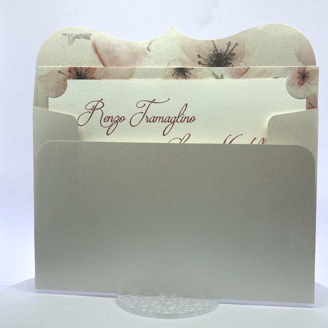 Partecipazioni Matrimonio Romantiche.Partecipazioni Nozze Romantiche Rosa Cod F1599 Inviti Design