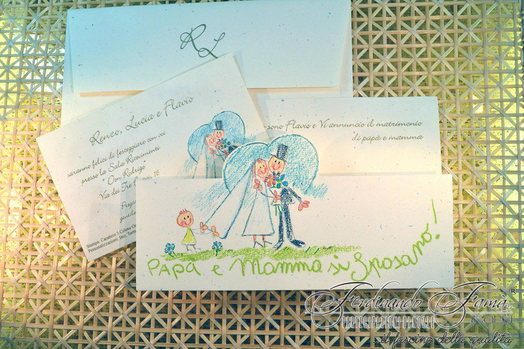 Partecipazione Matrimonio su cartoncino tipo coriandolo 110700