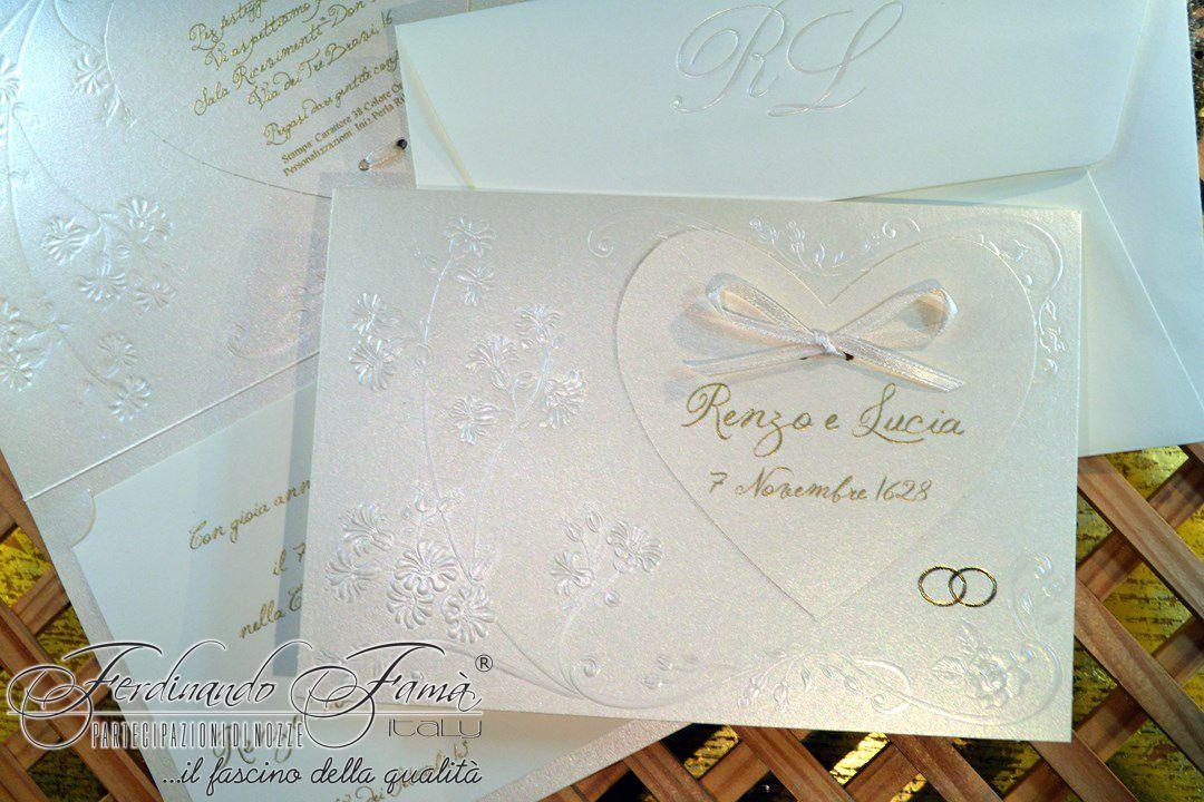 Partecipazione Matrimonio su cartoncino metallizzato 110708