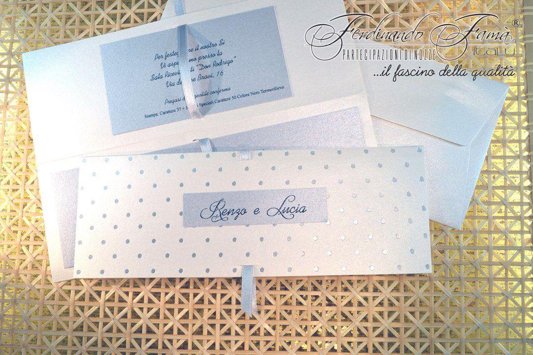 Partecipazione Matrimonio su cartoncino rettangolare metallizzato 110718