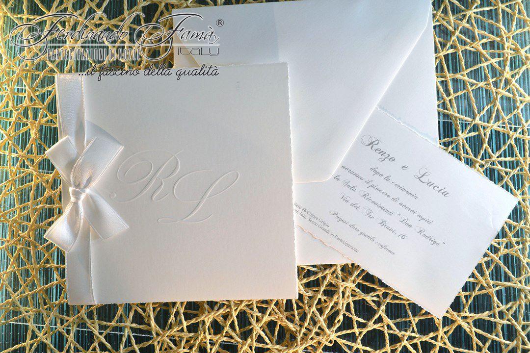 Partecipazione di Nozze su cartoncino quadrato bianco 110741