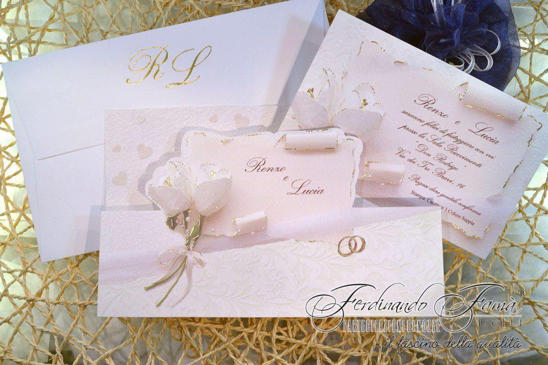 Partecipazioni Matrimonio Pergamena.Partecipazione Matrimonio Su Cartoncino Martellato Rettangolare