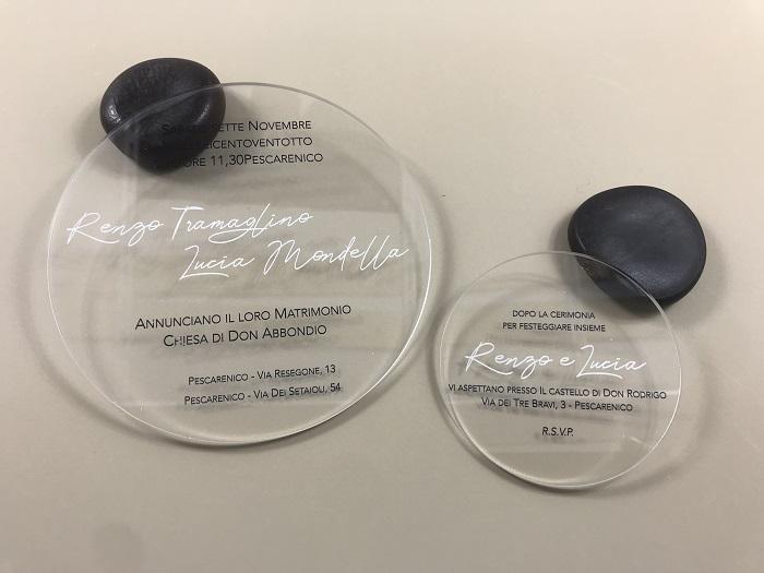 Partecipazione plexiglass trasparente Cerchio