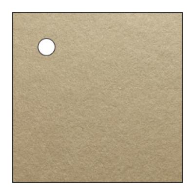 Etichetta per bomboniera di forma quadrata con foro in carta marrone shabby chic