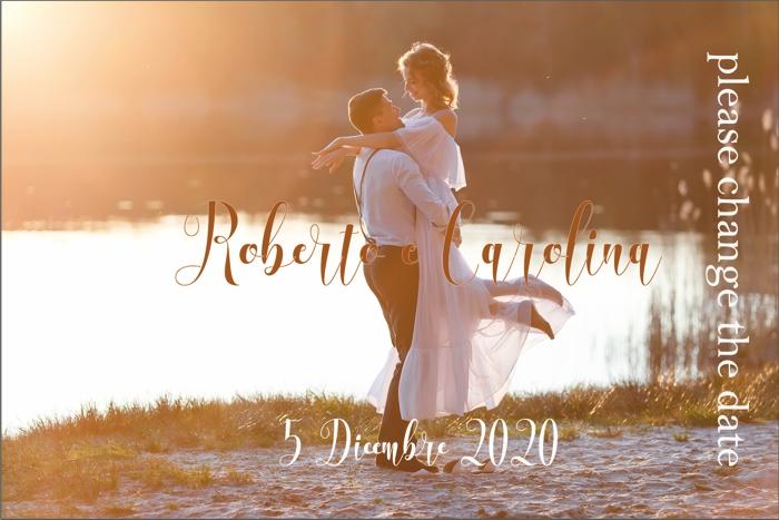 Change the date con foto sposi personalizzata