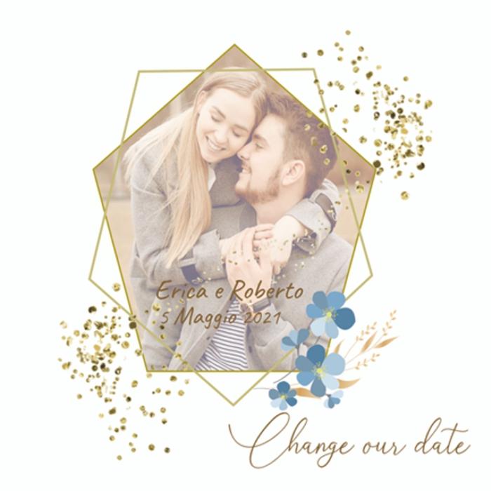 Change the date stile romantico con foto degli sposi personalizzata