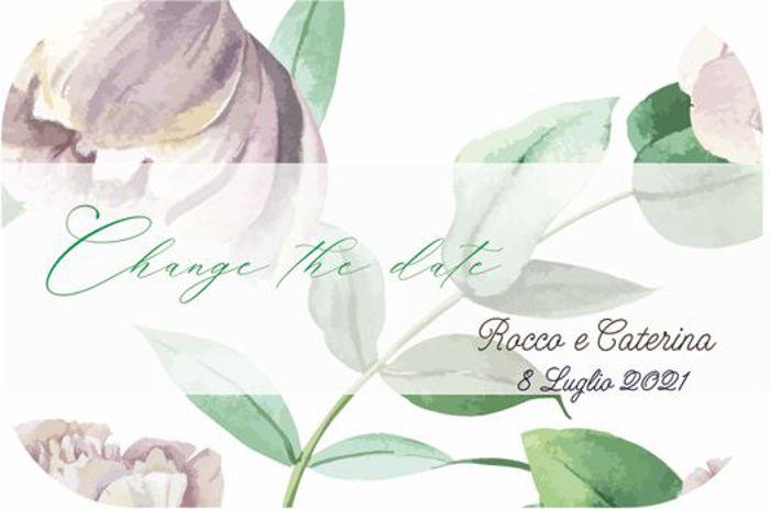 Change the date stile botanical, colori pastello rosa e verde  e trasparenze