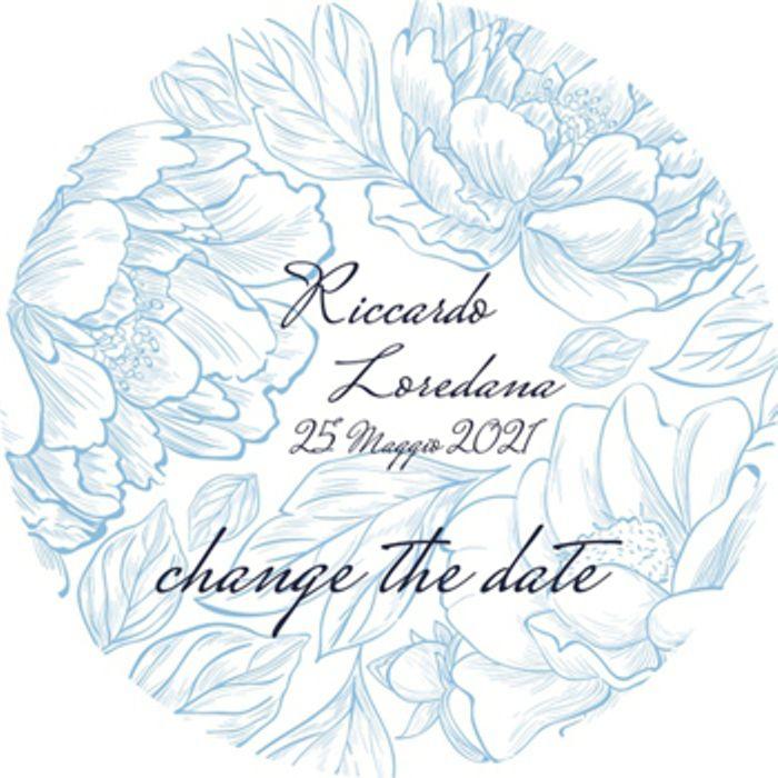 Change the date romantico color carta da zucchero con fiori