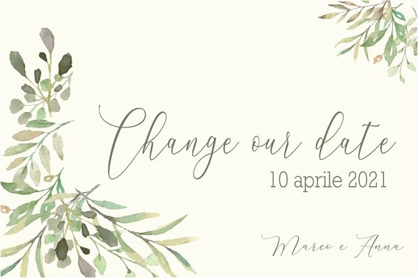 Change the date shabby watercolor
