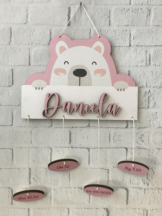 Idea fiocco nascita rosa