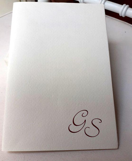 Libretto messa matrimonio carta martellata bianca personalizzato con iniziali sposi