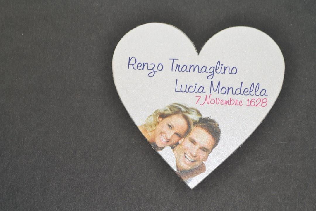 Calamite Personalizzate Matrimonio con Magnete Adesivo